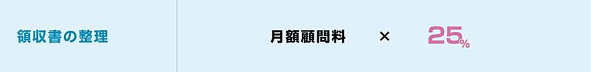 領収書の整理 月額顧問料×25%